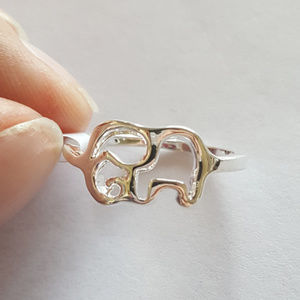 Jewelry - Silver Elephant Ring Size 7